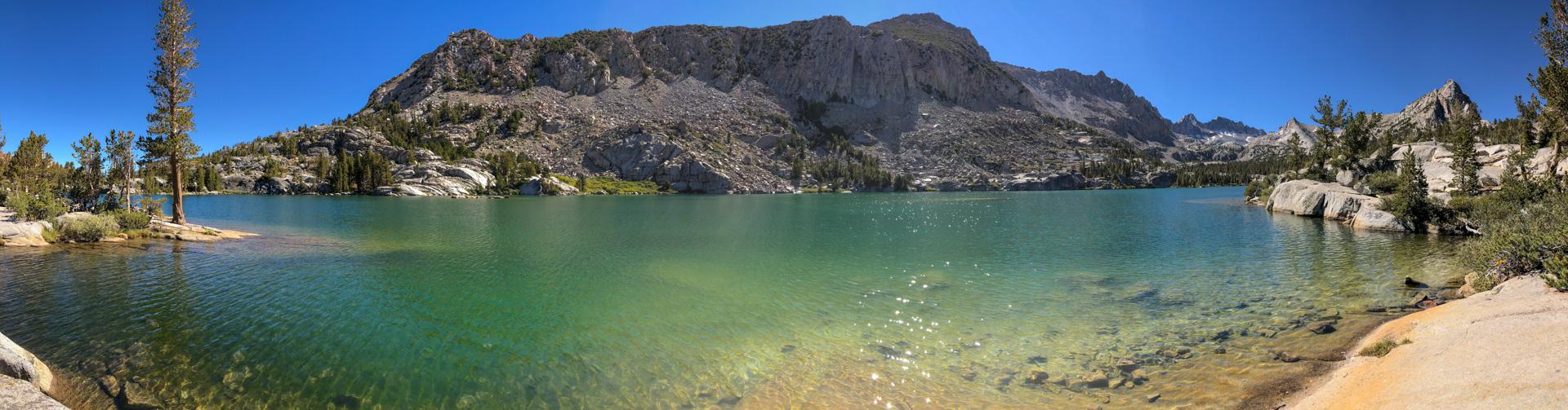 Shot of Blue Lake